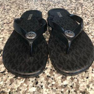 Michael Michael Kors Black Flip Flop Sandal